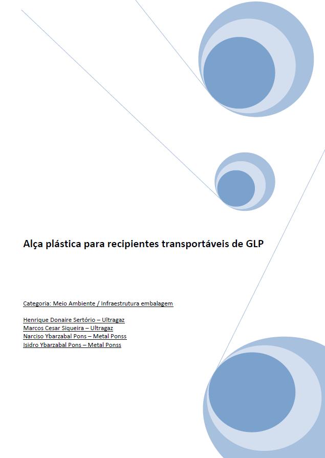 ALCA PLASTICA PARA RECIPIENTES TRANSPORTAVEIS DE GLP