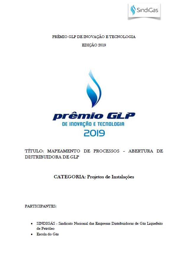 MAPEAMENTO DE PROCESSOS-ABERTURA DE DISTRIBUIDORA DE GLP