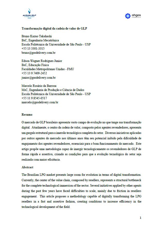 TRANSFORMACAO DIGITAL DA CADEIA DE VALOR DE GLP